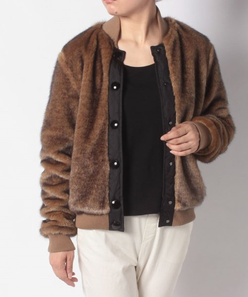HUNTER(ハンター)/WOMENS REFINED FAUX FUR BOMBER/WRO1241WAX