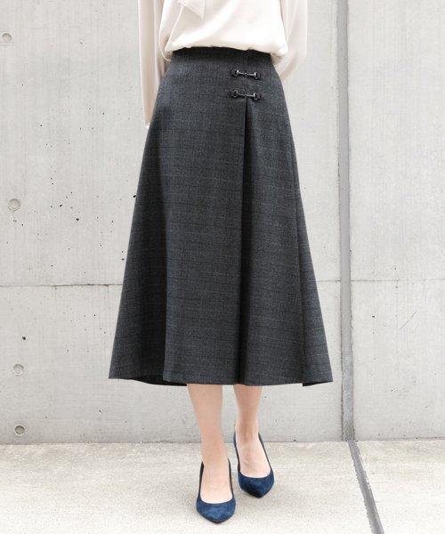 ICHIE(イチエ)/【BAILA10月号掲載】クラシカルクラブ/シネマチェック スカート/9534201