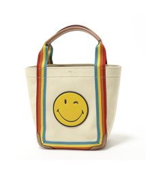ANYA HINDMARCH/136792 Point Tote Mini Printed Wink キャンバス トートバッグ ハンドバッグ Rainbow-Nastro レディース /502597112
