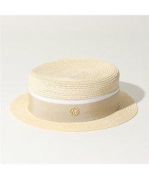 Maison Michel/Maison Michel メゾンミッシェル 1011 021 001 AUGUSTE ストロー ハット カンカン帽 帽子 NATURAL-BE レディース/502597146
