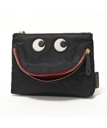 ANYA HINDMARCH/100991 Pouch Happy Eyes ナイロン ポーチ バッグインバッグ Black レディース/502597159