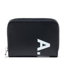A.P.C./PXAWV H63295 IAK emmanuel ロゴ レザー ラウンドファスナー 二つ折り財布 ミニ財布 ダークネイビー メンズ/502597163