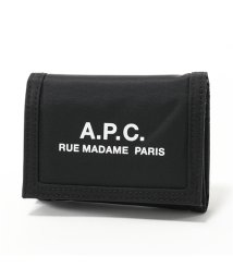 A.P.C./PAACX-H63283 portefeullle recuperation ナイロン 三つ折り財布 ロゴ NOIR メンズ/502597188