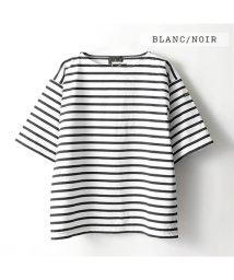 Le Minor/61778 JAUGE 20 ボートネック バスクシャツ 五分袖Tシャツ ボーダー カットソー カラー3色 メンズ/502597211