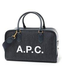 A.P.C./APC COCSU F61245 sac sylvie デニム 2way ボストンバッグ MARINE ユニセックス レディース/502597238