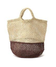 MAISON BENGAL/JUTE MACRAME BAGS バイカラー ジュート かご カゴバッグ マルシェバッグ トートバッグ カラー3色 レディース/502597302