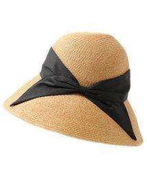 abu/NH-062 リボン ストローハット ペーパーハット ツバ広 帽子 折り畳み可能 カラー3色 レディース/502597318