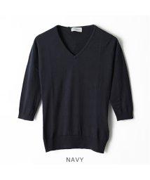 JOHN SMEDLEY/REED 3/4 SLIM FIT Vネック 七分袖 ニット セーター コットンニット カラー5色 レディース/502597371