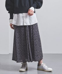 UNITED ARROWS/<STYLE for LIVING> ドット フラワープリント フレアスカート†/502600582