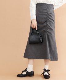merlot/フロントギャザーフレア切り替えスカート/502602575