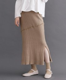 merlot/メローリブニットスカート/502602617