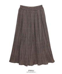 GROWINGRICH/[ボトムス スカート]グレンチェック細プリーツスカート[190699]しわが気にならない!優秀プリーツ/502602653