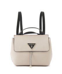GUESS/ゲス GUESS ARETHA CONVERTIBLE CROSSBODY BACKPACK (STONE MULTI)/502603092
