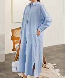 maison de LATIR/そのまま着ても、ウエストマークしても、前開きにして羽織としても使えるシャツワンピ。/502603392