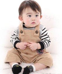 e-baby/シャツコールワッペン付サロペット/502552256