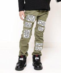 RAD CUSTOM/ムラ糸ストレッチツイルパッチ付スキニーパンツ/502574682