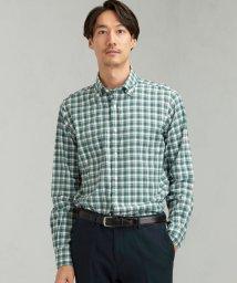 green label relaxing/ET 起毛ツイル チェック ショートボタンダウンカラー シャツ/502575011