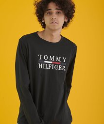 TOMMY HILFIGER MENS/コットンロングスリーブロゴTシャツ/502582483