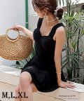 maison de LATIR/バッグのリボンで体型カバーも、ワンピースとショートパンツの水着セット。/502603389