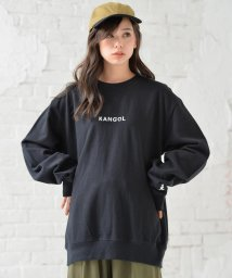 revenil/KANGOL カンゴール 裏毛 ロゴ刺繍 クルースウェット/502608574