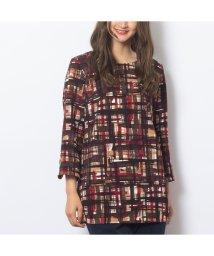 PISANO/チェックプリントTシャツ/502609537