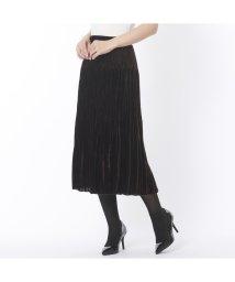 Liliane Burty ECLAT/上質ベルベットのプリーツ加工スカート/502609538
