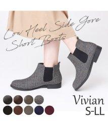 Vivian/軽量ソール&ローヒールサイドゴアショートブーツ/502609582