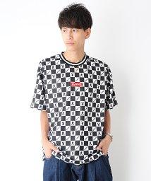 revenil/PLAYBOY メッシュ総柄リブライン半袖Tシャツ/502609788