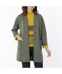 LOBJIE/ボンディング素材のコートジャケット/502610364