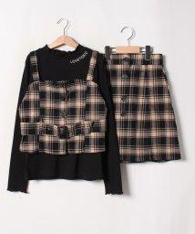 Lovetoxic/【二コラコラボ】 チェックビスチェ×スカート×Tシャツ3点セット/502585479