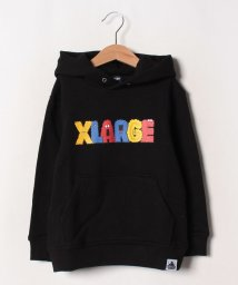 XLARGE KIDS/裏毛 カラフルロゴプリントパーカー/502585485