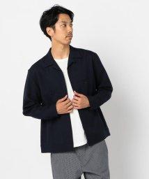 GLOSTER/ZIPアップ オープンカラーシャツ/502592179