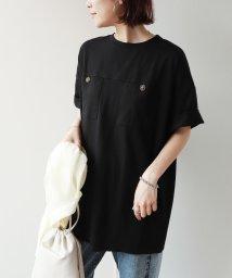 and Me.../両胸ポケットベルト付き半袖Tシャツチュニック/502609902