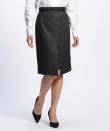 NARA CAMICIE/《セットアップスーツ対応》バーズアイベルト付タイトスカート/502610065