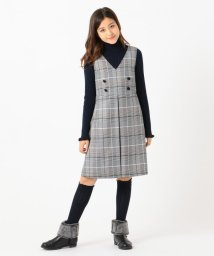 KUMIKYOKU KIDS/【150-160cm】パッチワークチェック ワンピース/502613588