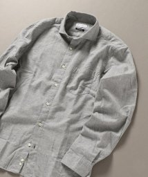 SHIPS JET BLUE/SHIPS JET BLUE: セミワイドカラー ネルシャツ ソリッド/502614162