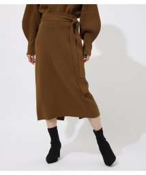 AZUL by moussy/SWEATTER BELT TIGHT SKIRT/502614817