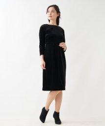 Leilian/ベルベット7分袖ワンピース/502553279