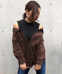 me Jane/オフショルレイヤードシャツ/502598048