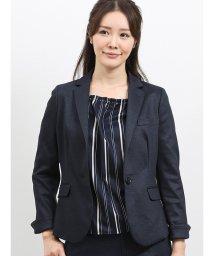 m.f.editorial/ストレッチウォッシャブル ポンチセットアップ1釦ジャケット 紺/502613274
