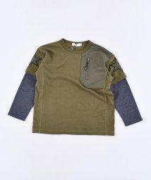 WASK/レイヤード風天竺ワイドTシャツ(140cm~160cm)/502615739