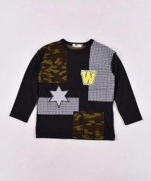 WASK/天竺パッチワークTシャツ(110cm~130cm)/502615744