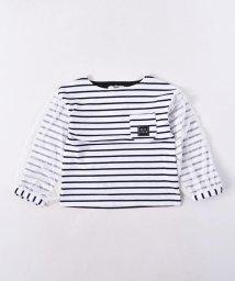 WASK/袖チュール天竺ワイドTシャツ(110cm~130cm)/502615746