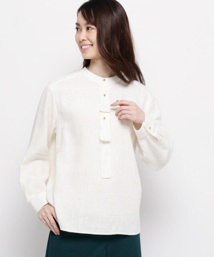 【ハンドウォッシュ】麻コットン(綿)クロスシャツ