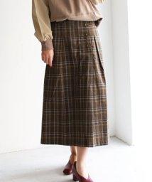 REAL CUBE/サイドボタン起毛セミタイトスカート/502616696