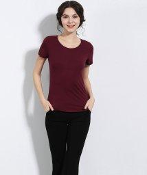 ALWAYS/シームレスインナー[COOL] インナー レディース シームレス 切りっぱなし U型Teeシャツ Tシャツ 通気 吸湿 ストレッチ 伸縮性 ストレスフリー 薄手/502616697