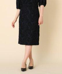Couture Brooch/【WEB限定サイズ(LL)あり/手洗い可】カットジャガードミモレ丈スカート/502616996