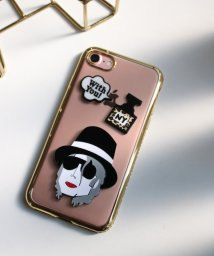 SELECT/〈HAPPY FACE/ハッピーフェイス〉iPhone 7/8/X Case Celebrity Style/透明メタリックフレーム 海外セレブ風iPhone/502362872