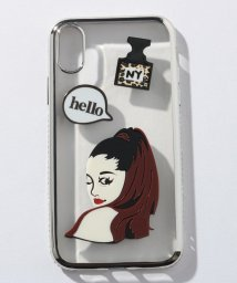 SELECT/〈HAPPY FACE/ハッピーフェイス〉iPhone 7/8/X Case Celebrity Style/透明メタリックフレーム 海外セレブ風iPhone/502362872