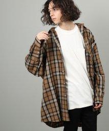 JUNRed/ブリティッシュタータンチェックモンスタービッグシャツ/502620866